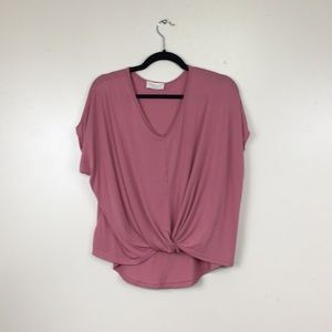 Anthro Lavender Field Lilac Knot Front Tee
